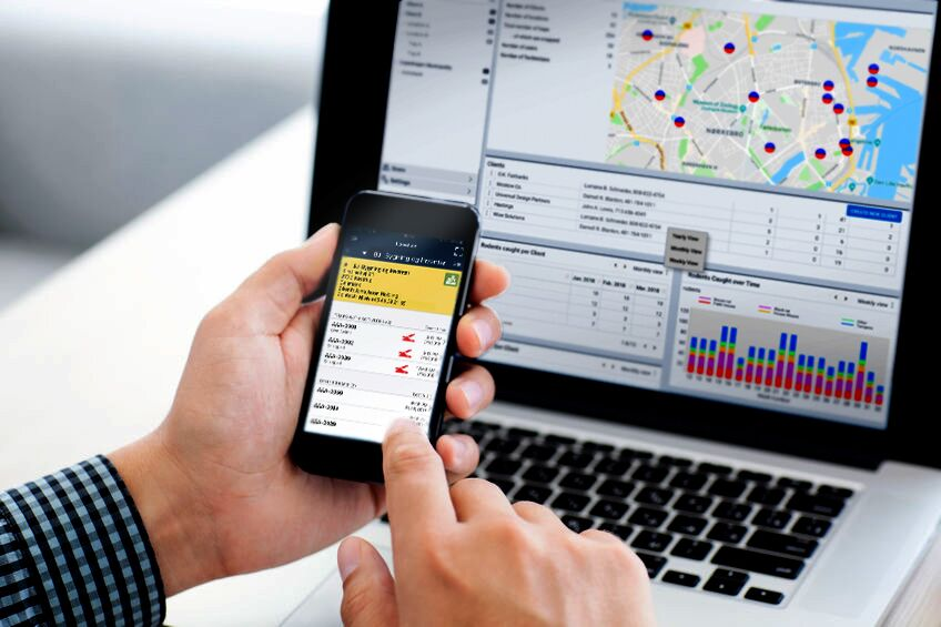 RATMO provides full in-house control via app and webterminal