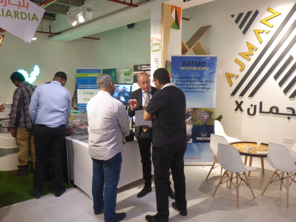 News Discussion at Ajman Pest Control Forum Exhibition.
